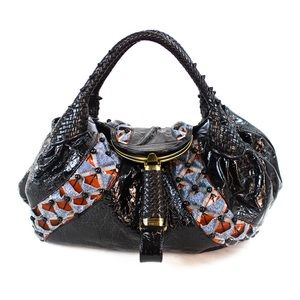 Fendi Spy Bag In Patent Leather and Beaded details